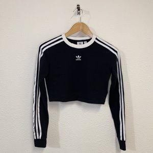 Adidas Cropped Long Sleeve Shirt M